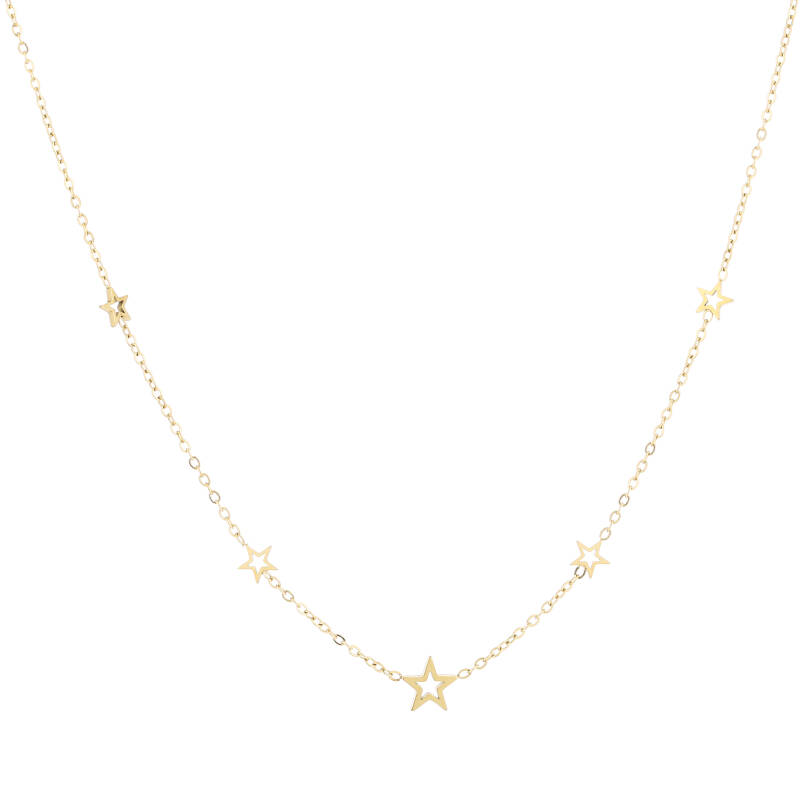 Stars necklace | goud