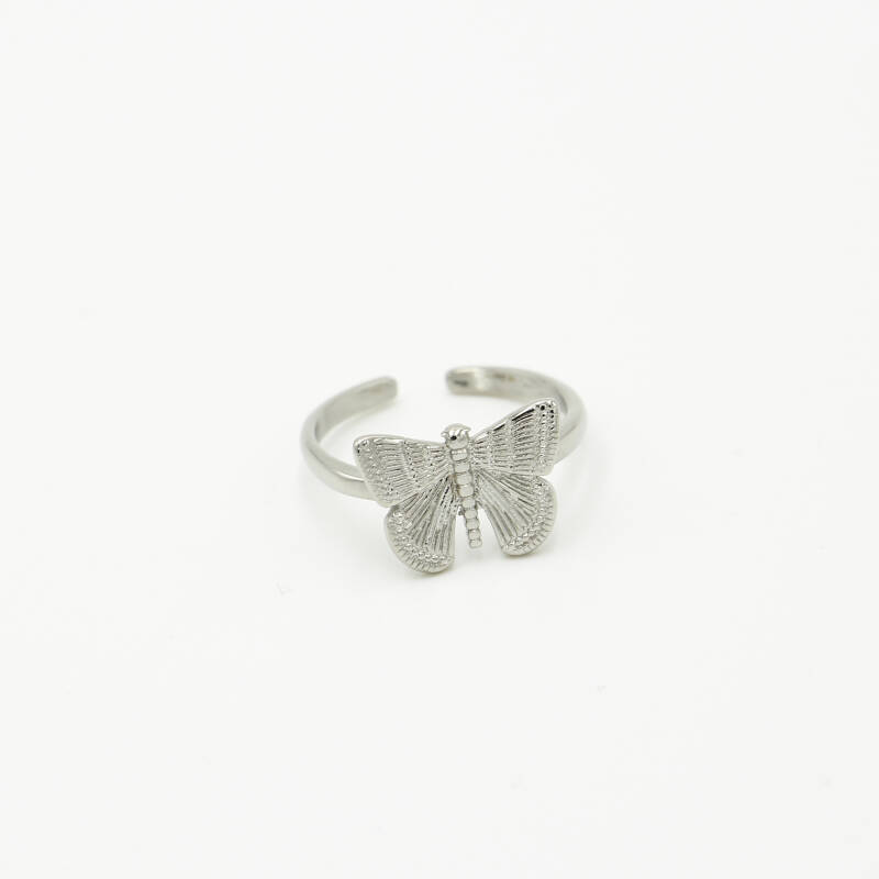 Ring butterfly | zilver