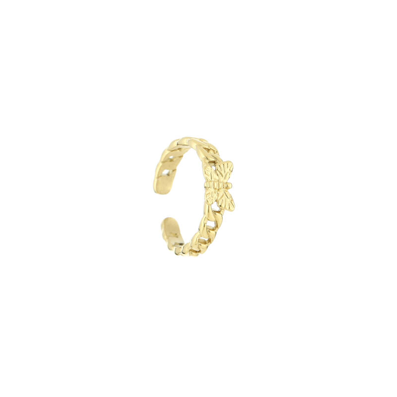 Chain ring butterfly | goud