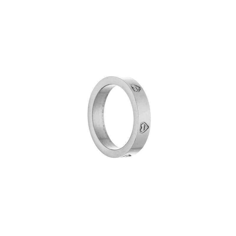 Wide ring hearts | zilver