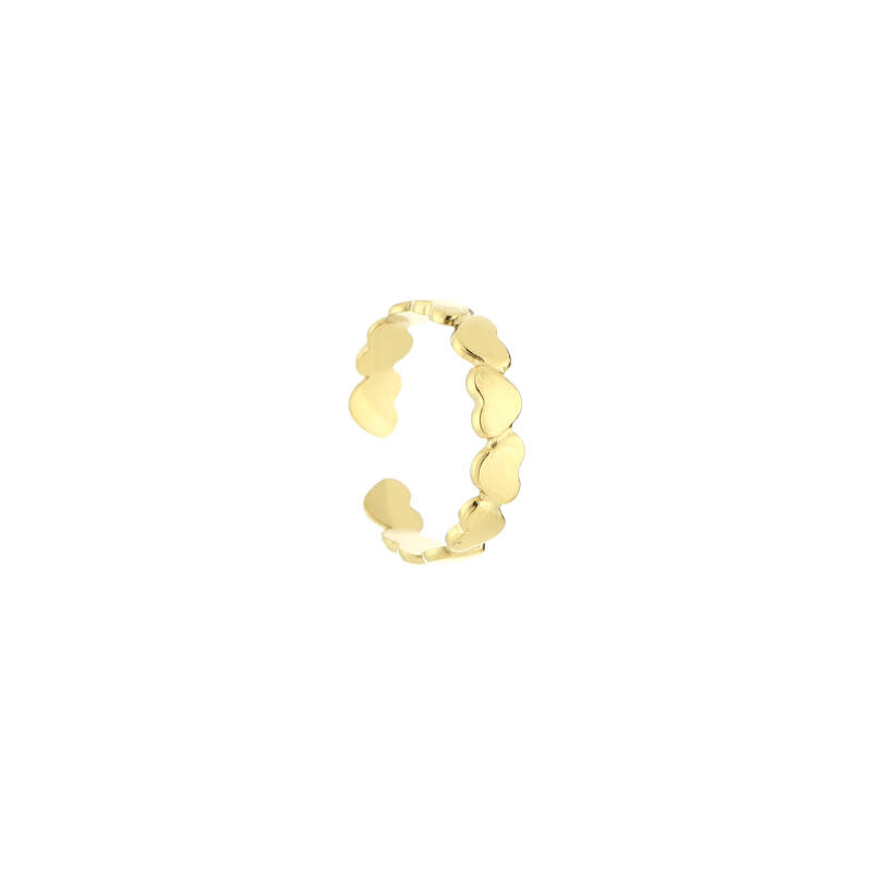 Ring turned hearts | goud