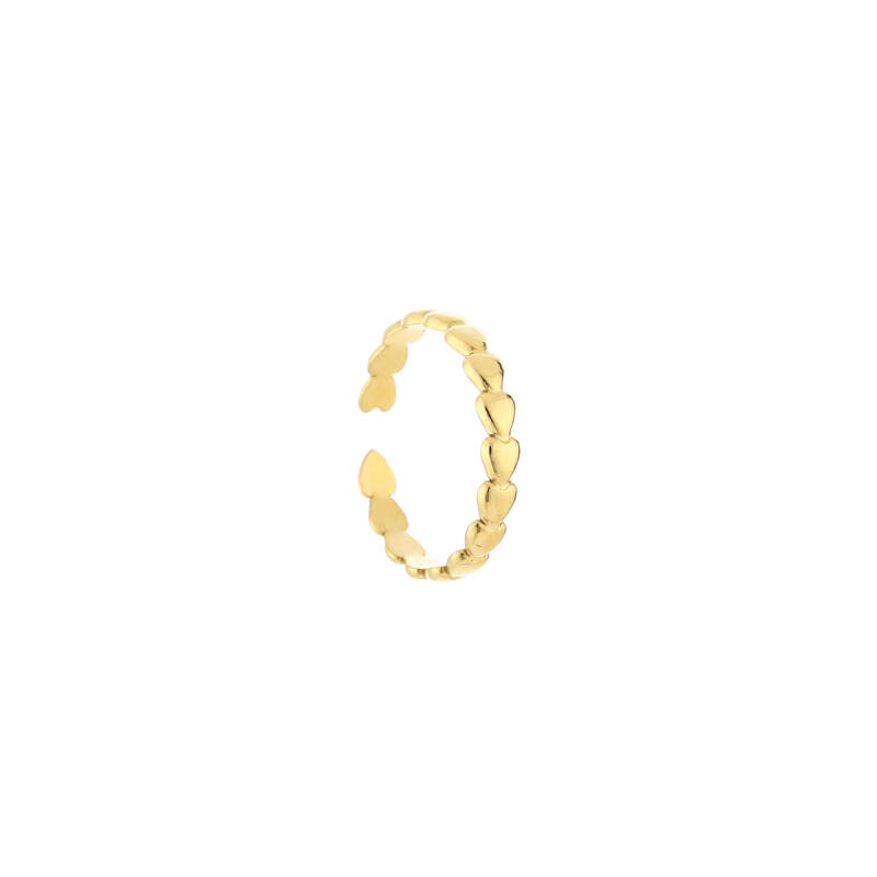 Ring small hearts | goud
