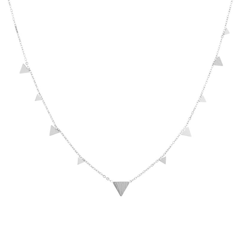 Floating triangle necklace print | zilver