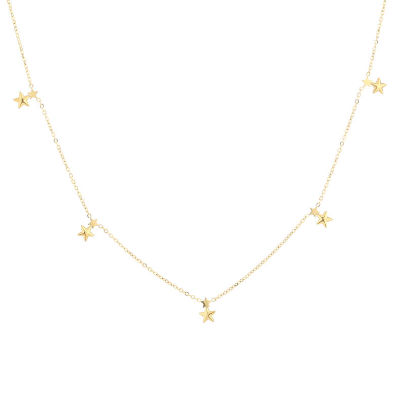 Floating stars necklace | goud