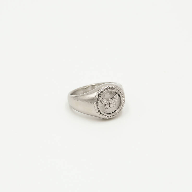 Ring round butterfly | zilver