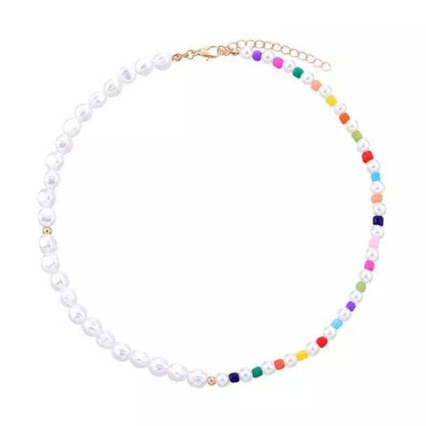 Colourful pearl necklace