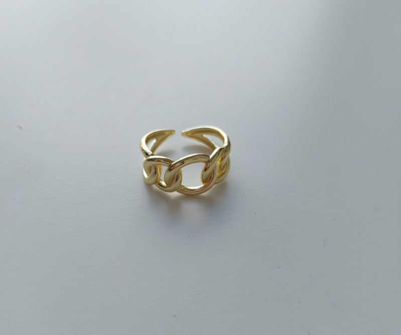 Chain ring small big | goud