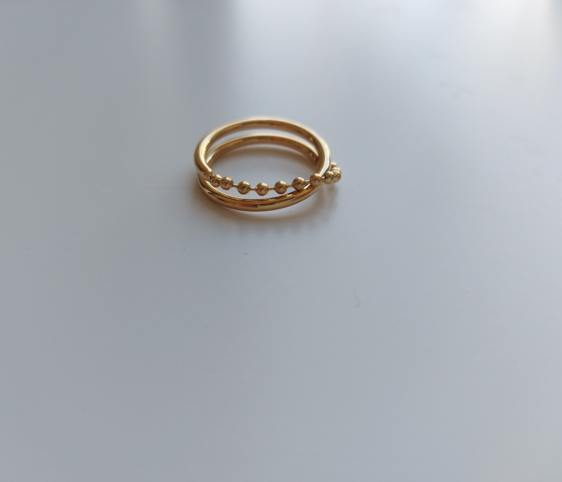 Ring loose chain   goud