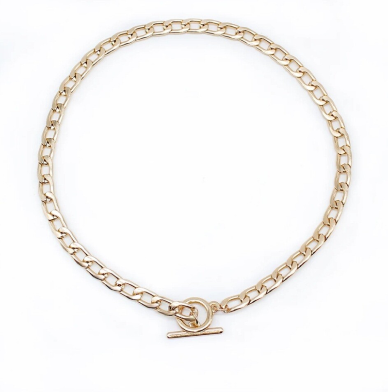 PRE ORDER   Chain necklace small round   gold