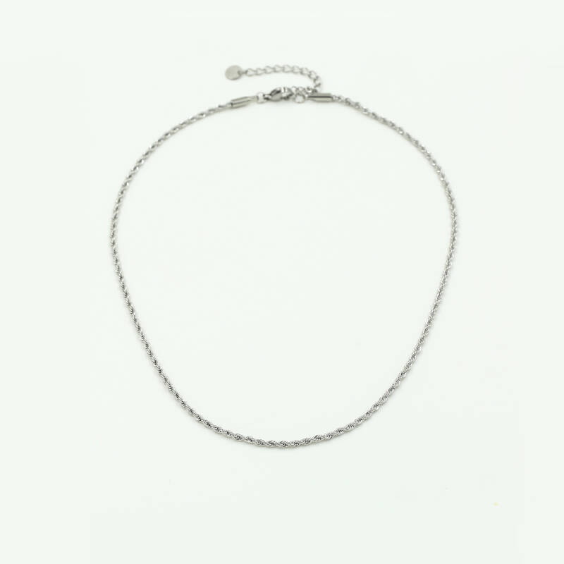 Ketting small twisted | zilver