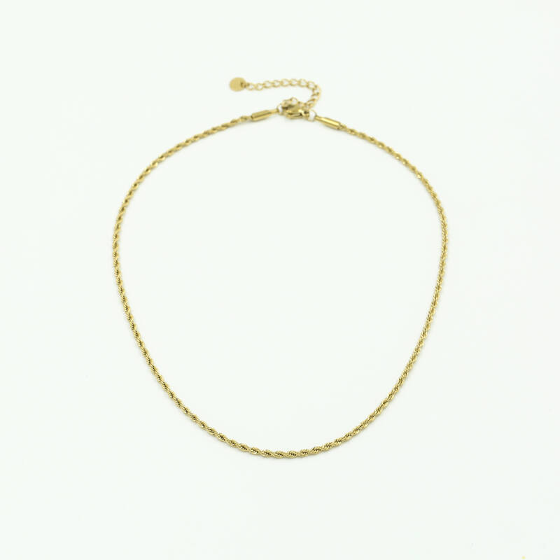 Ketting small twisted | goud
