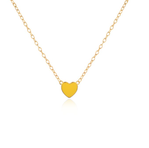 Necklace colour heart   yellow
