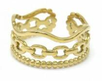 Ring triple different | goud