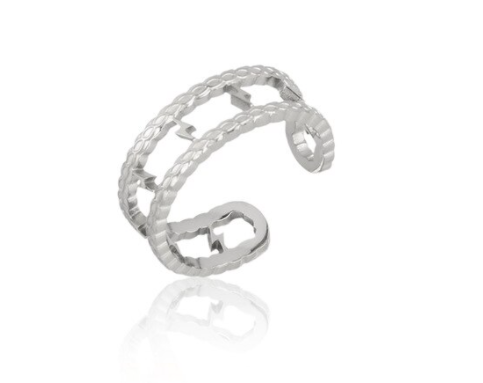 Ring triple lightning | zilver