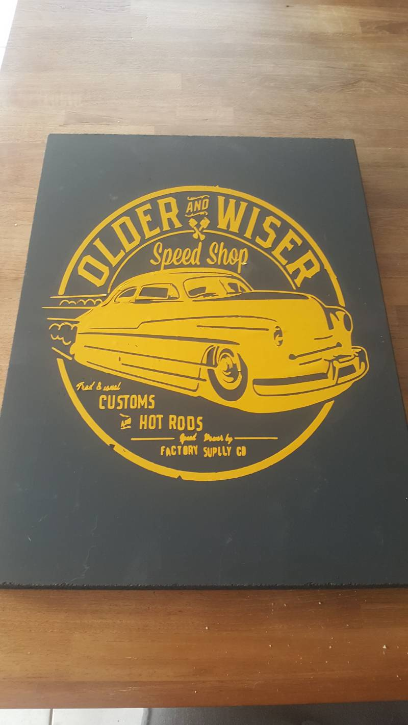 Vintage bord Older and Wiser