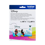 card mickey en mini papier patroontjes