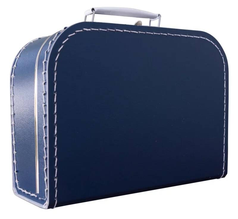 kinderkoffer donkerblauw 25 cm