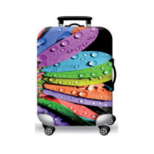 Suitcase Cover with a beautiful Flower Design in Multi Color
