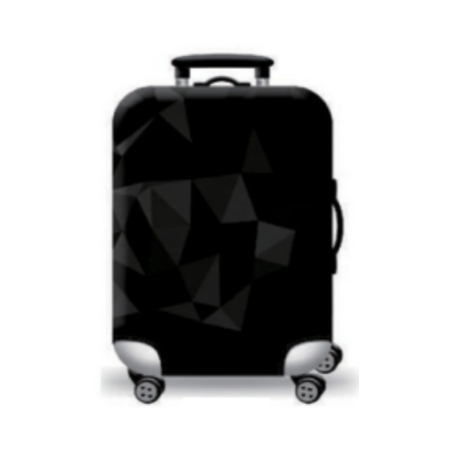 Suitcase Cover with an elegant Mosaic Design in Grey
