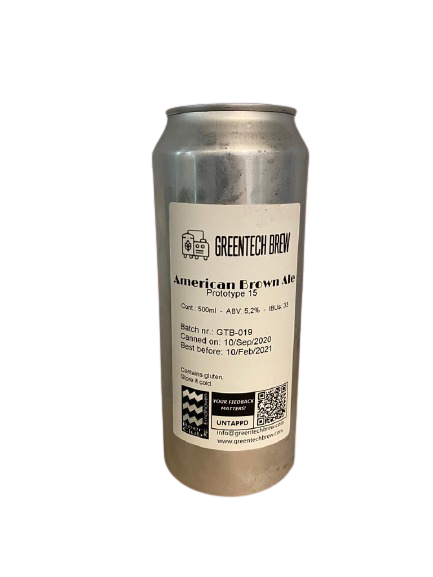 Prototype 15 - American Brown Ale - 500ml Can.