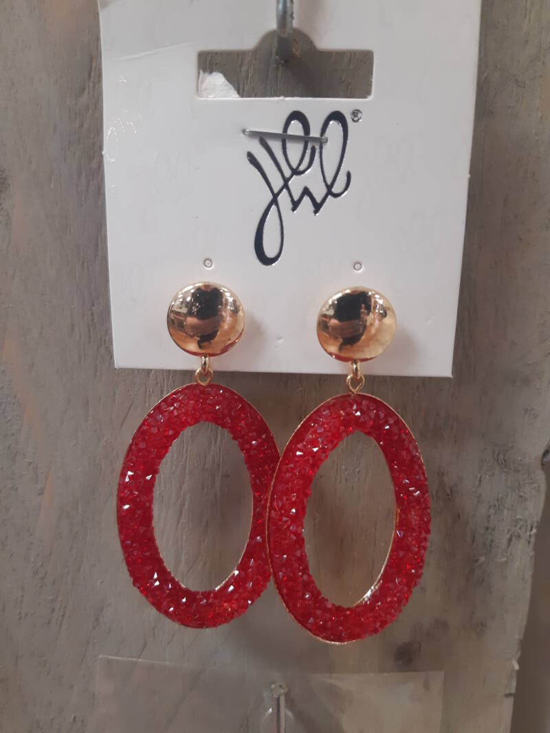 Gold/Red EARRING Diamant