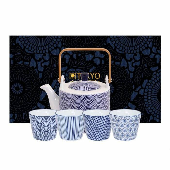 Tokyo Thee Set Nippon Blue Dots. 5 Delig