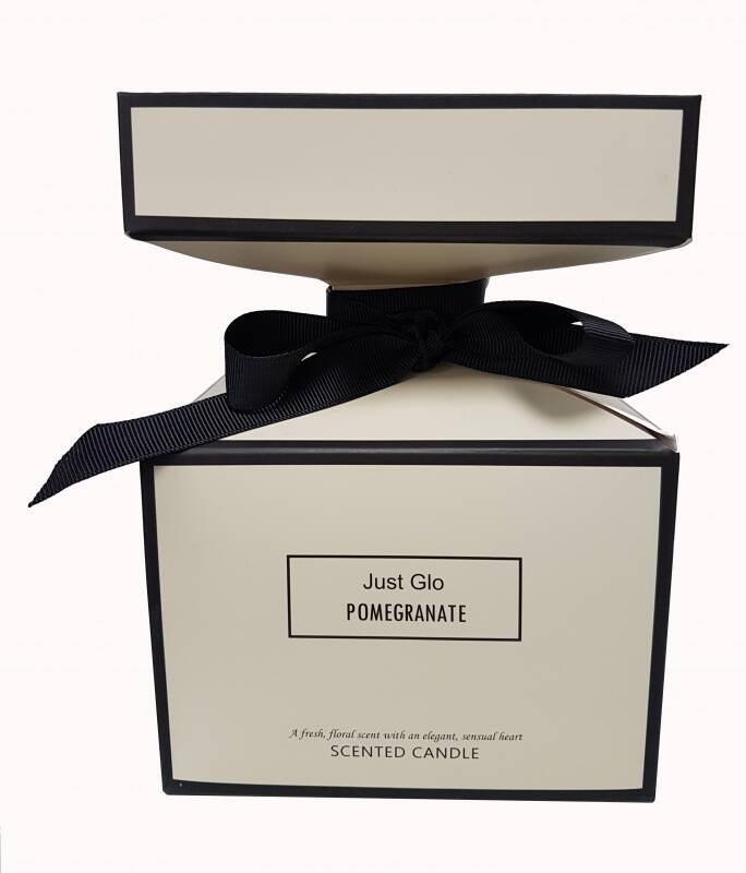 Just Glo Pomegranate Scented Candle 140g