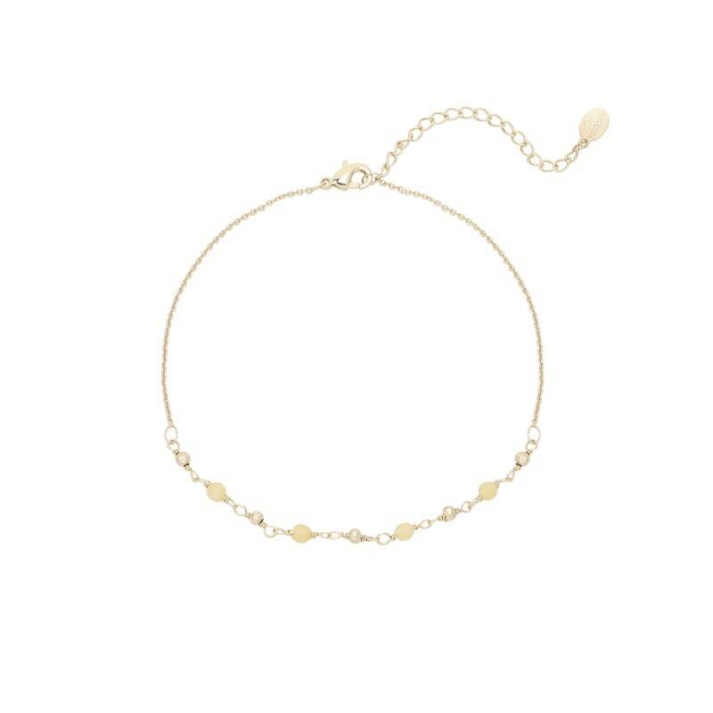 Enkelband small beads off-white