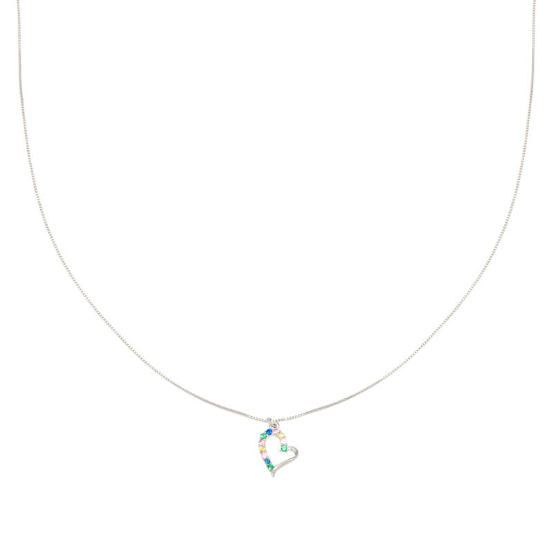 Ketting colorful heart