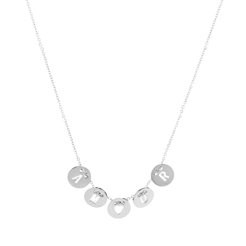 Amour Coins Necklace Silver