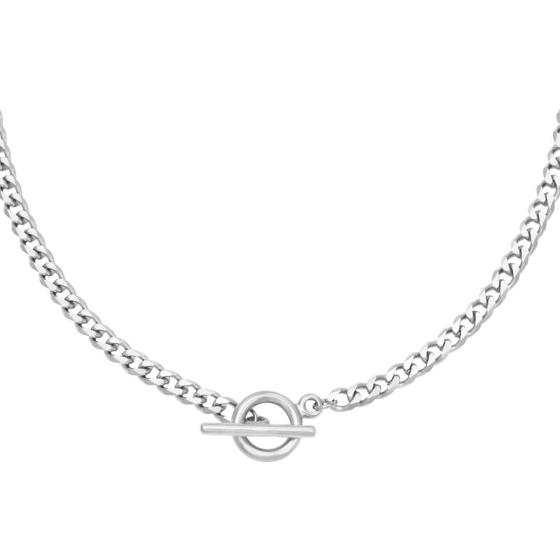 Lock It Up Necklace Silver