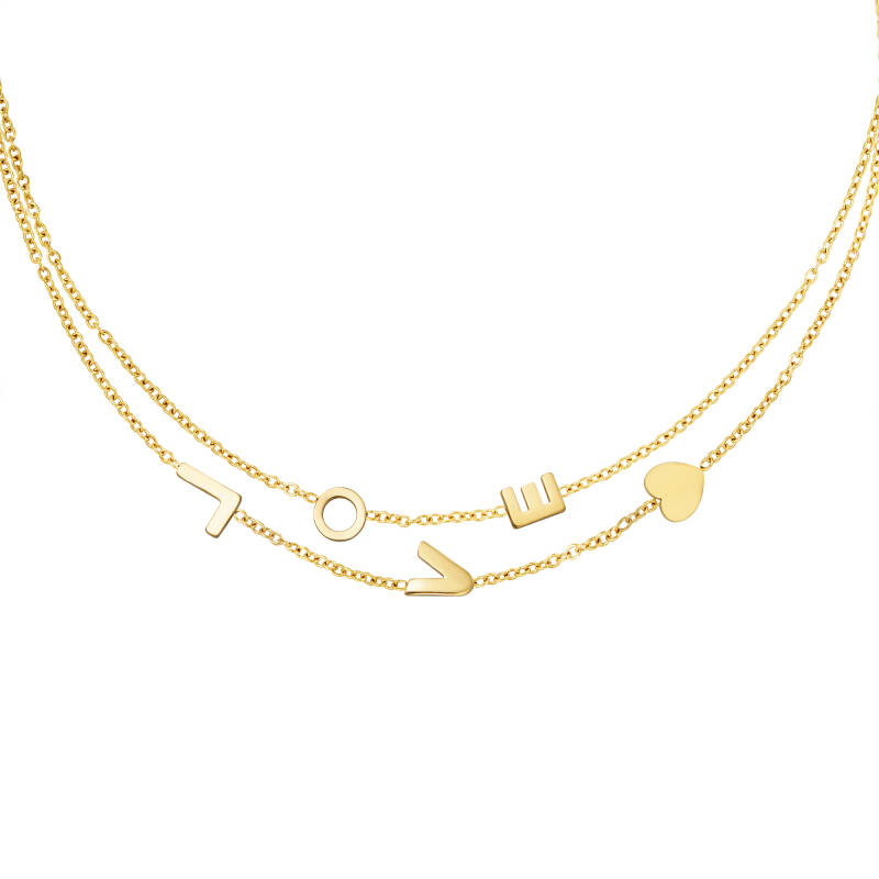 L To The Love Necklace Gold