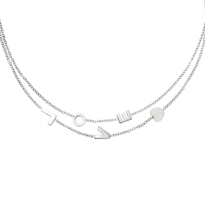 L To The Love Necklace Silver