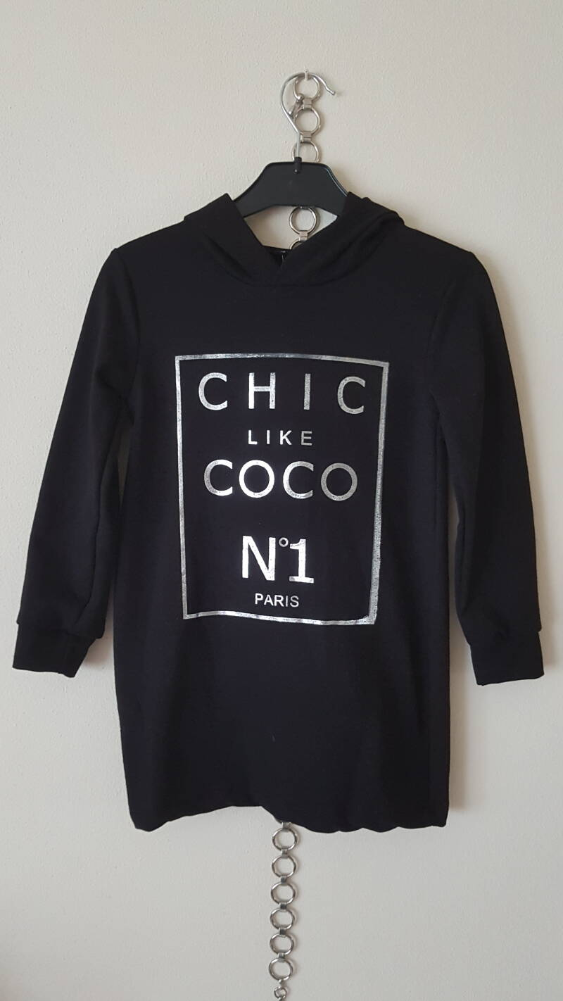 AF1033 Hooded sweater dress Coco