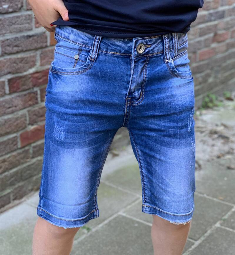 Jeans short slim-fit stretch