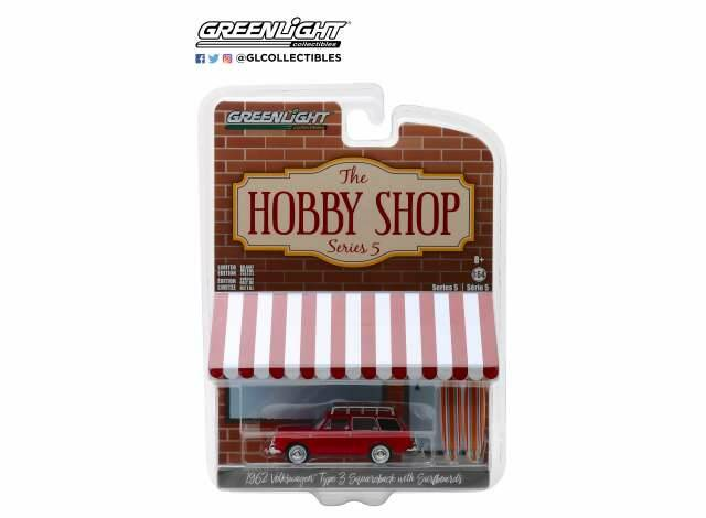 1962 Volkswagen Type 3 Sqaureback With Roof Rack And Surfboards *The Hobby Shop Series 5*, red