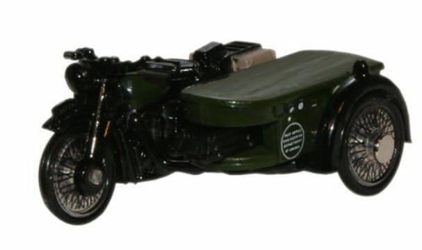 BSA POST OFFICE TELEPHONES MOTORCYCLE, schaal 1:76.