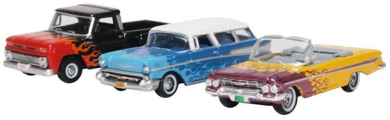 Chevrolet HOT RODS 3 CAR SET