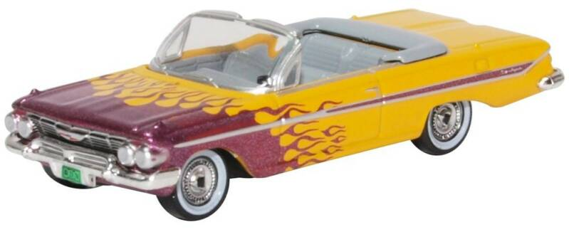 Chevrolet IMPALA CONVERTIBLE HOT ROD 1961 paars-geel