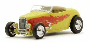 Ford Hot Rod Roadster geel met vlammen