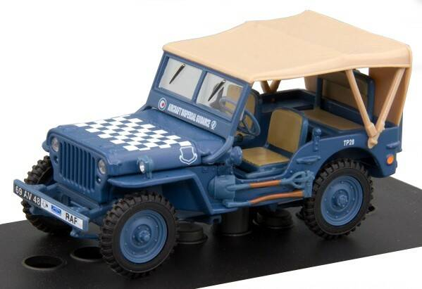 Jeep 1/4 TON MILITARY VEHICLE SOFT TOP blauw