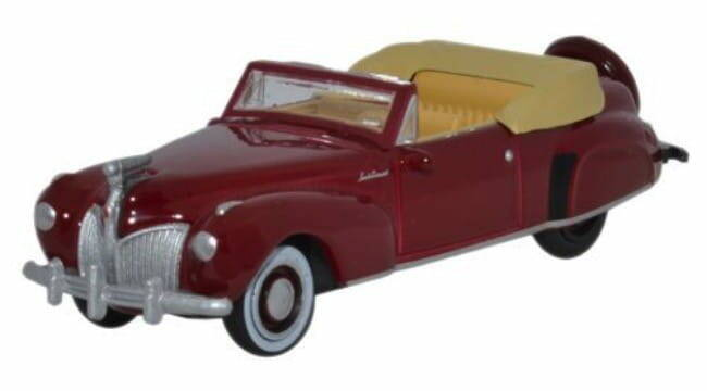 LINCOLN CONTINENTAL CABRIOLET 1941 donkerrood
