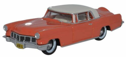 LINCOLN CONTINENTAL MKII 1956 rood met wit dak