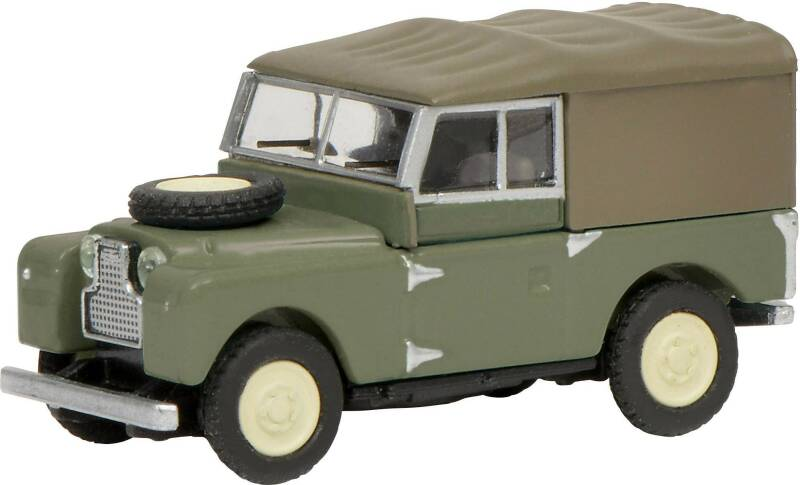 Land Rover 88 canvas groen