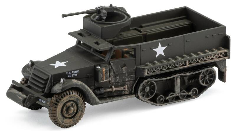 M3 A1 HALF-TRUCK 41st ARMOURED INFANTRY 2nd ARMOURED DIVIDION D-DAY 1944