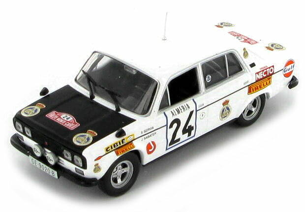 SEAT 1430 #24 SERVIA/SABATER RALLY MONTE CARLO 1977