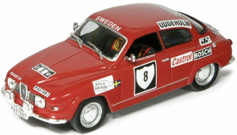 Saab 96V4 #8 BLOMQVIST/HERTZ INTERNATIONAL SWEDISH RALLY 1972