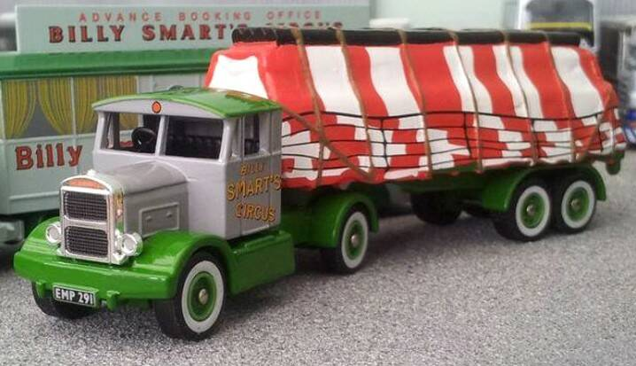 Scammell HANDYMAN + SHEETED LOAD BILLY SMARTS CIRCUS