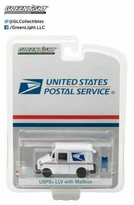 United States Postal Service (USPS) Long Life Postal Delivery Vehicle + Mailbox