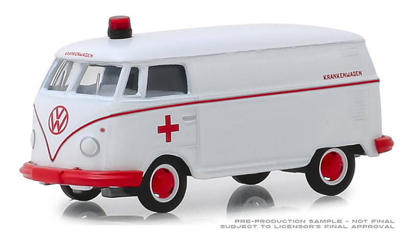 VW T1 panel van witte ambulance